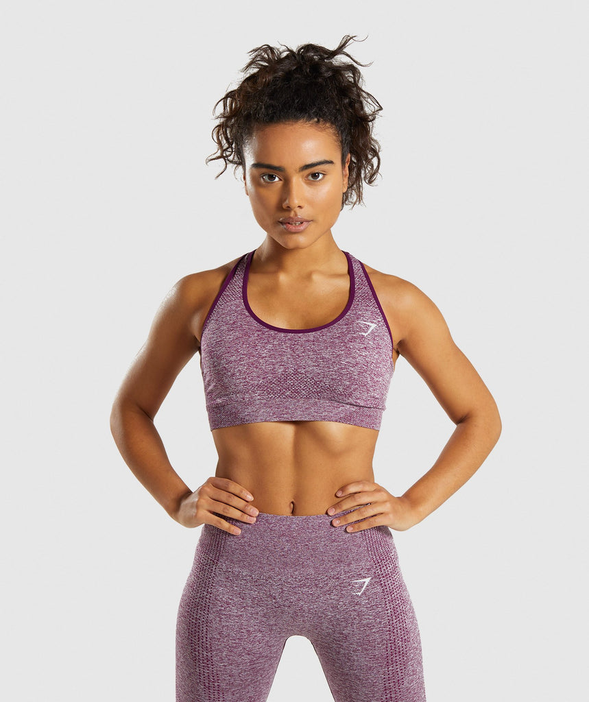 Gymshark Vital Seamless Sports Bra - Purple 1