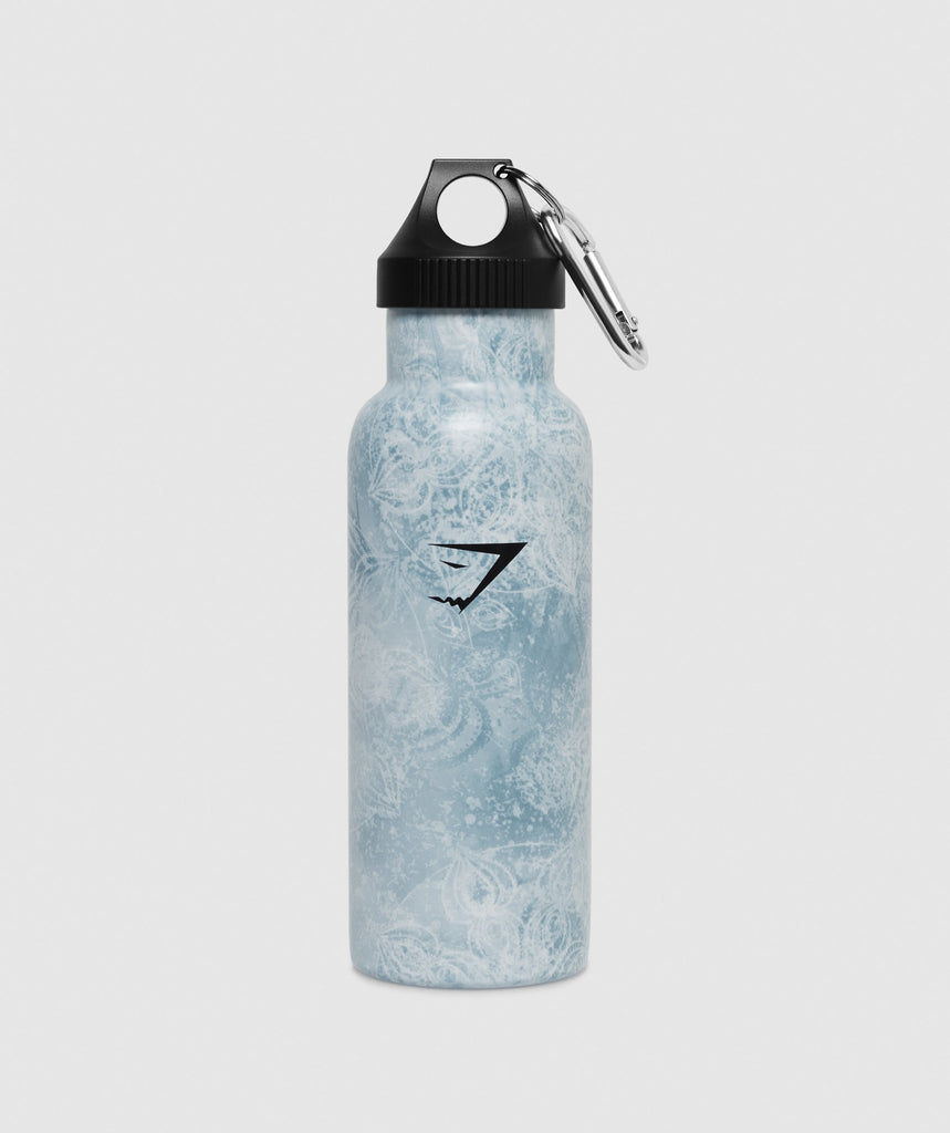 Gymshark Yoga Print Water Bottle - Blue 1