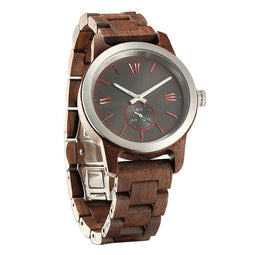 Men's Handcrafted Engraving Walnut Wood Watch