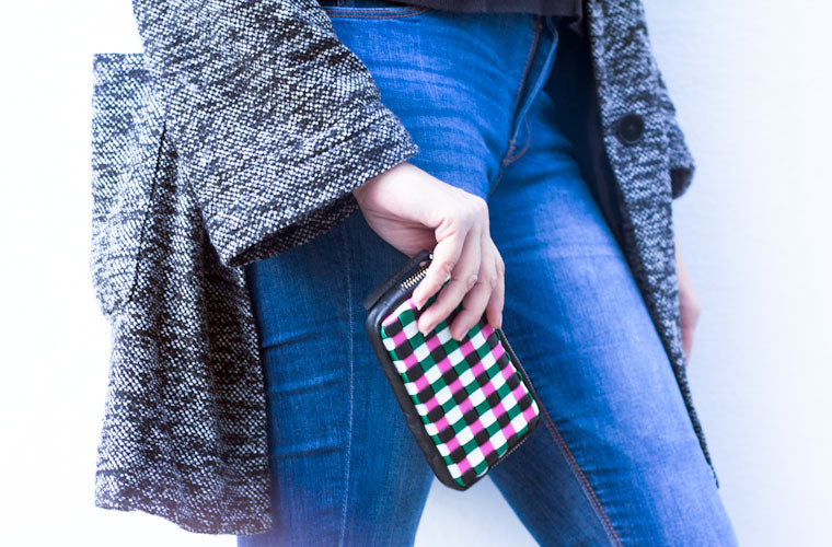 The Antheia handwoven zipper wallet proportional reference by milloo