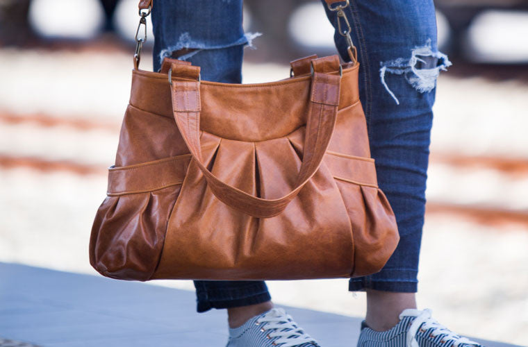 The Elessa messenger bag in brown leather close by milloo