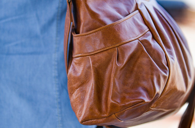 The Elessa messenger bag in brown leather by milloo