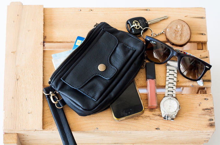 The Thalia wallet in black leather by milloo