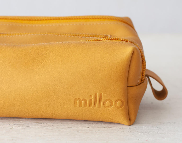 The 2rec case in yellow leather by milloo