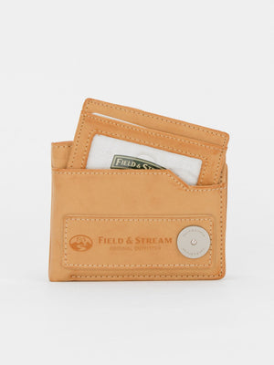 ID Wallet with Removable Card Case - Tan