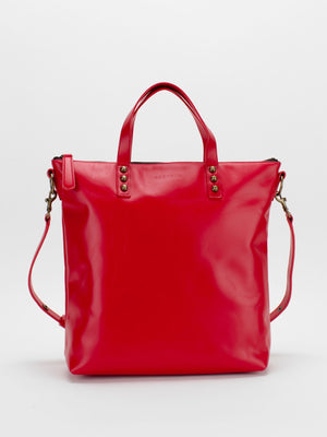 Florence Leather Satchel - Red