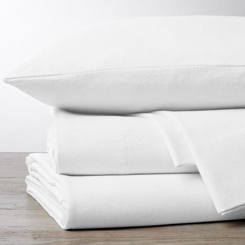 Superior Luxury 100% Cotton Flannelette White Pillowcases