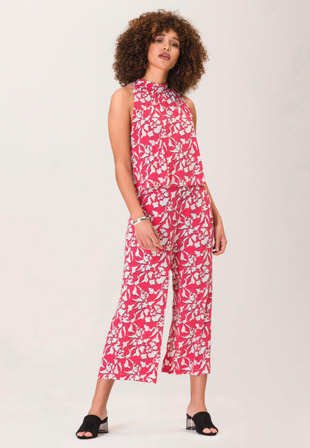 Skyler Cropped Jumpsuit in Amazonia Floral