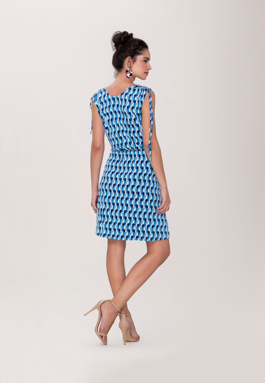 Tara Dress in Mod Geo