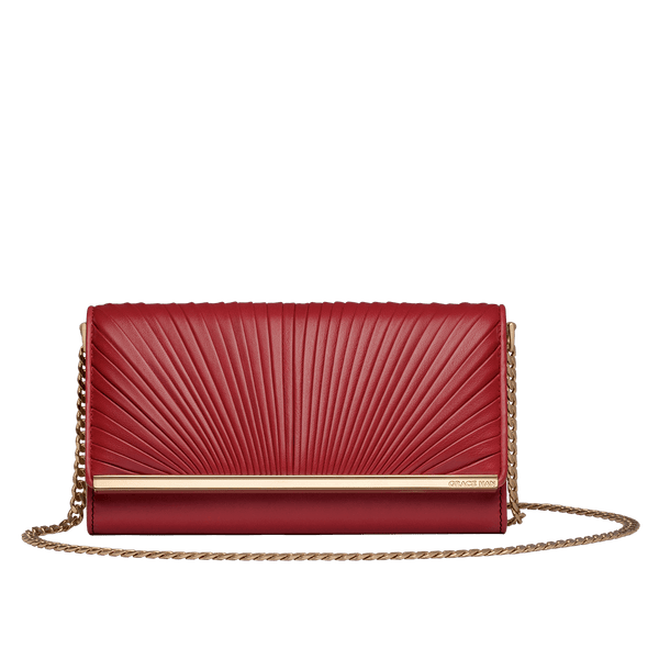 Grace Han Ballet Lesson Chain Wallet in Red
