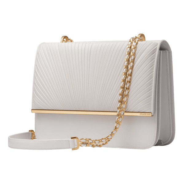 Grace Han Ballet Lesson Large Chain Bag in White