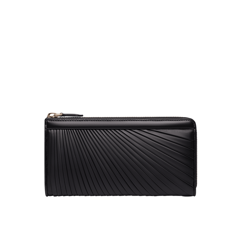 Grace Han Ballet Twirl Long Zip Wallet in Black