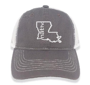 louisiana nativ grey trucker
