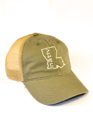 louisiana sage green trucker