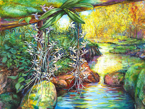 Orchids and Stream