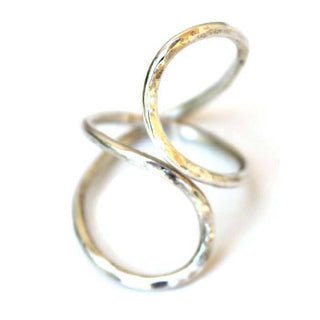wings hawaii sterling silver ring infinity ring wrapped wrap shape gold handmade around unique hammered twist braid tangle contort circle forever