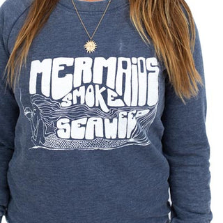 Mermaids Smoke Seaweed French Terry Pullover