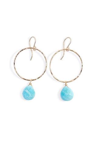 Full Circle Earrings - Turquoise