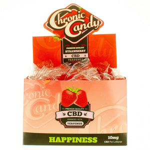 Chronic Candy CBD Lollipop Strawberry Cough | CBD Edibles | AndHemp