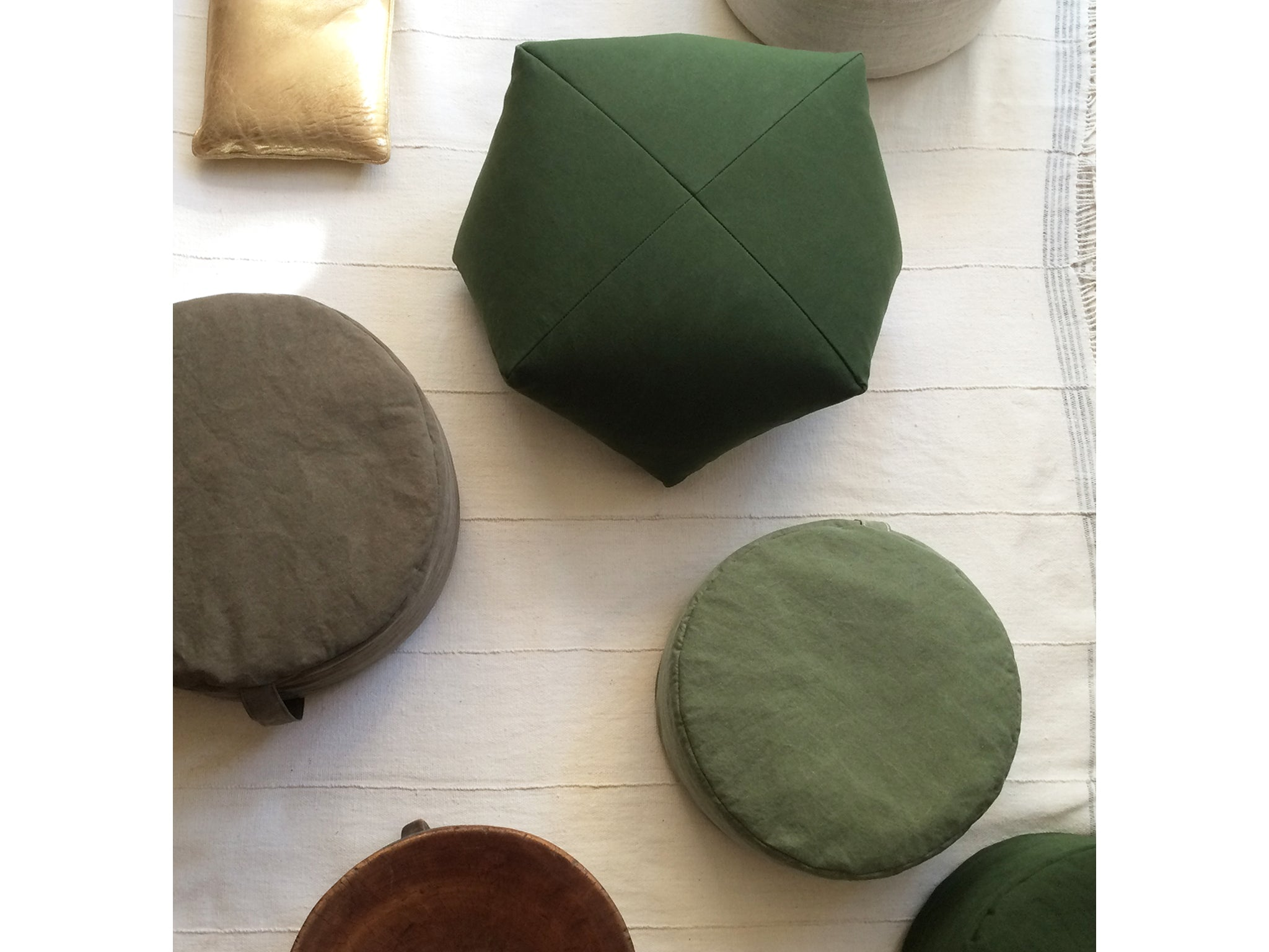DUMPLING CUSHIONS, shelter half canvas