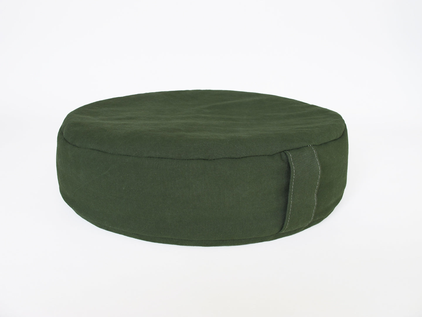 PEBBLE meditation cushion in shelter half canvas