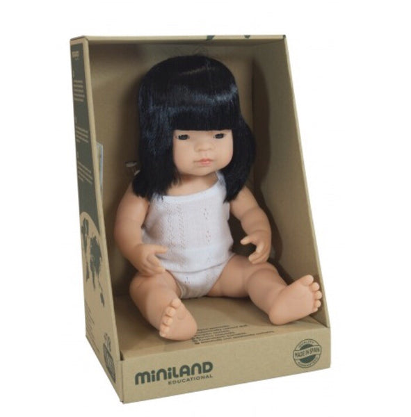 PREORDER Miniland Doll - 38cm Asian Girl