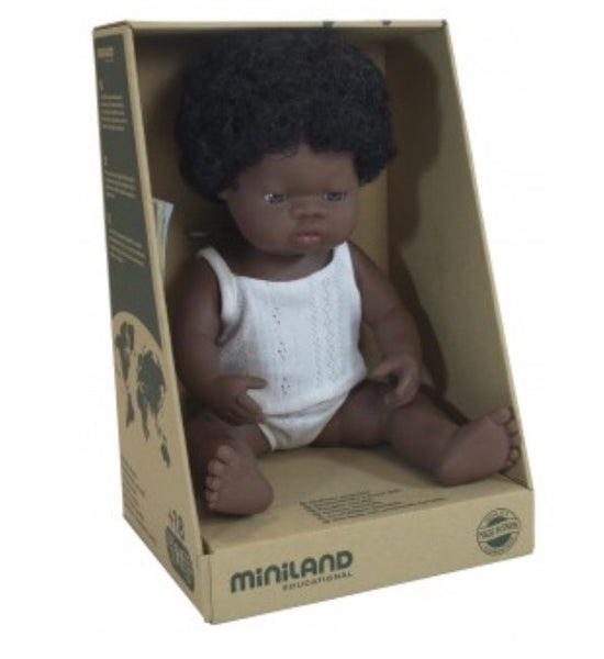 PREORDER MiniLand Doll - 38cm African Girl