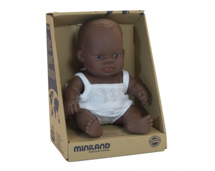 PREORDER MiniLand Doll - 21cm African Girl
