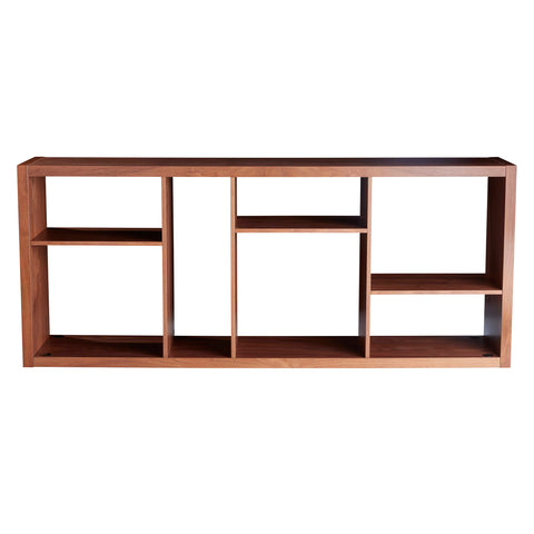 Euro Style 09702WAL Reid Shelving/Media Stand American Walnut 727511958544