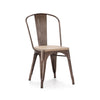 Dreux Rustic Matte Light Elm Wood Stackable Side Chair (Set of 2)
