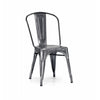 Dreux Dark Gunmetal Steel Stackable Side Chair (Set of 2)