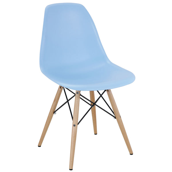 Modway EEI-180-LBU Pyramid Dining Side Chair Light Blue