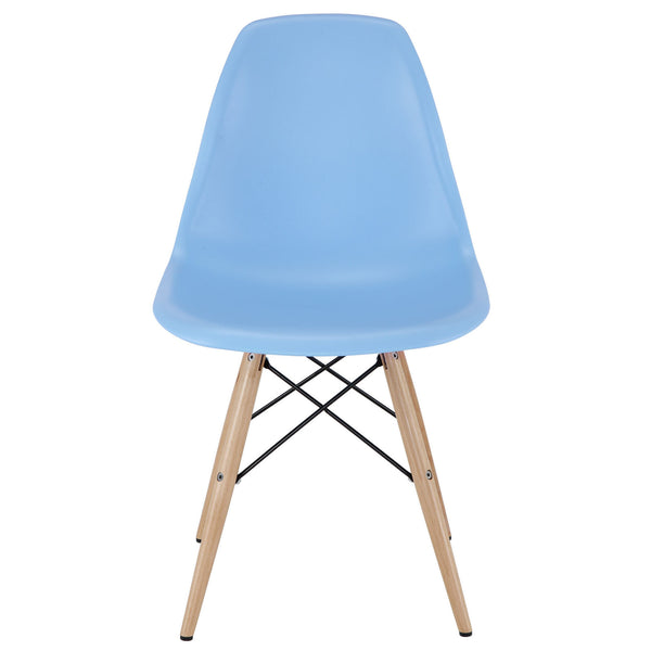 Pyramid Mid-Century Modern Dining Side Chair Molded ABS Plastic