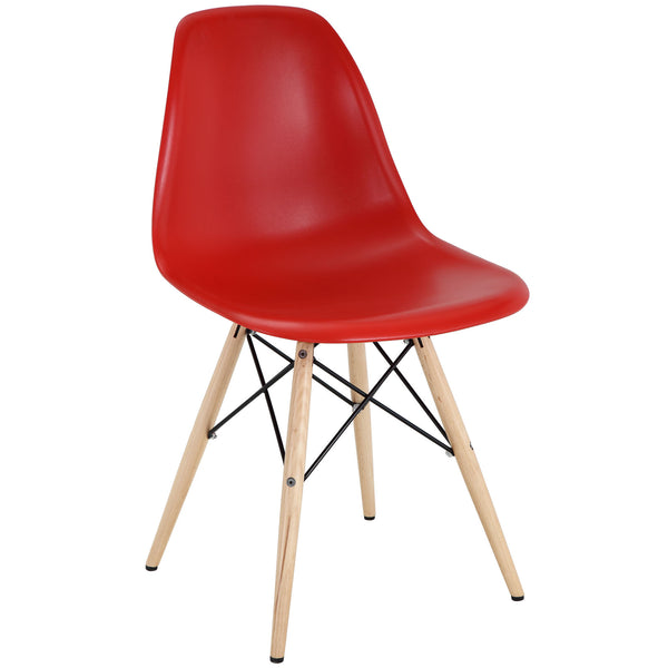 Modway EEI-180-RED Pyramid Dining Side Chair Red