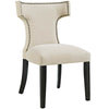 Modway EEI-2221-BEI Curve Fabric Dining Chair Beige