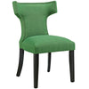 Modway EEI-2221-GRN Curve Fabric Dining Chair Kelly Green