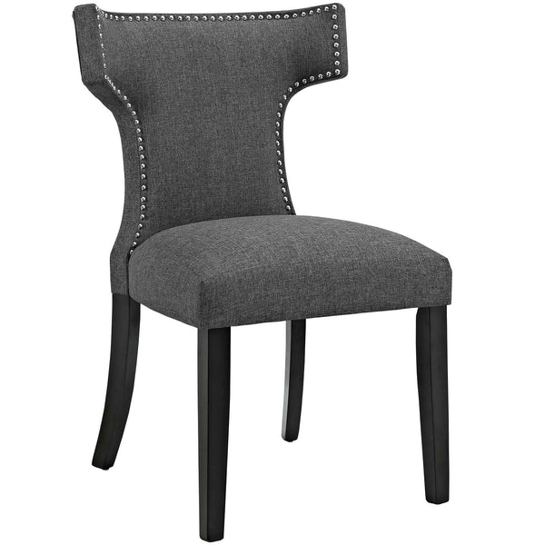 Modway EEI-2221-GRY Curve Fabric Dining Chair Gray