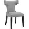 Modway EEI-2221-LGR Curve Fabric Dining Chair Light Gray