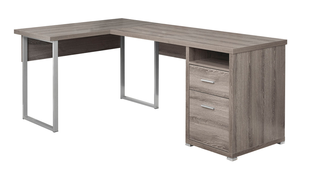 "Monarch Specialties I 7255 Computer Desk - 80""L / Dark Taupe Left Or Right Facing  680796000943"