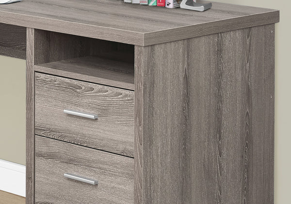 "Computer Desk - 80""L / Dark Taupe Left Or Right Facing"