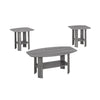 Monarch Specialties I 7925P Table Set - 3Pcs Set / Grey 878218006394