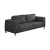 Monarch Specialties I 8512GY Love Seat - Charcoal Grey / Grey Contrast Micro-Suede  878218002655