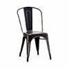 Dreux Vintage Matte Black Gold Stackable Side Chair (Set of 2)