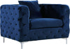 Scarlett Navy Velvet Chair