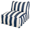 Navy Blue Vertical Stripe Bean Bag Chair Lounger