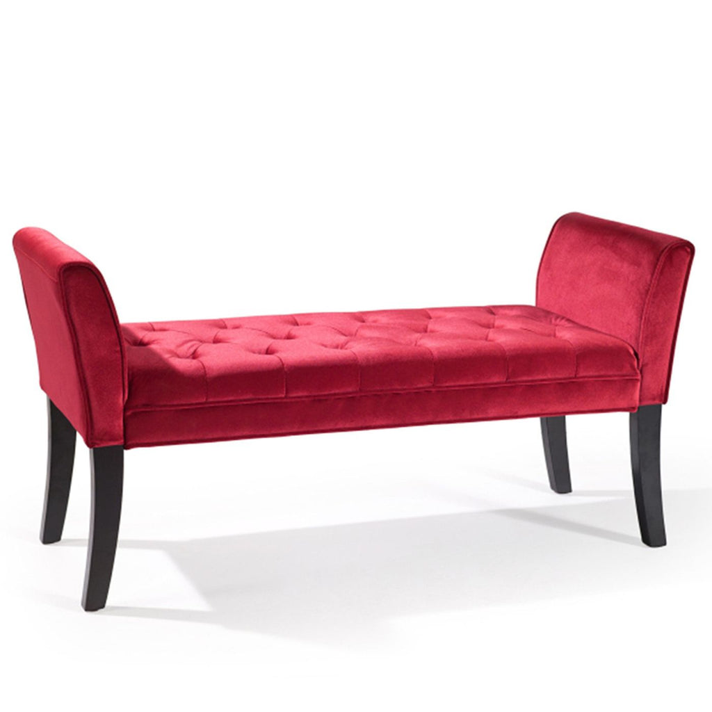 Chatham Bench In Red Velvet