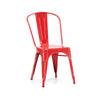 Sundsvall Stackable Glossy Red Steel Side Chair (Set of 4)