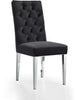 Juno Deep Tufted Black Velvet Dining Chair (set of 2)