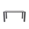 Abby Rectangular Parsons Style Dining Table in Grey High Gloss Lacquer