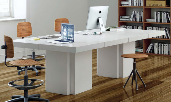 Dusk 2 - Set Of Two 51'' Tables High Gloss White Dining Table